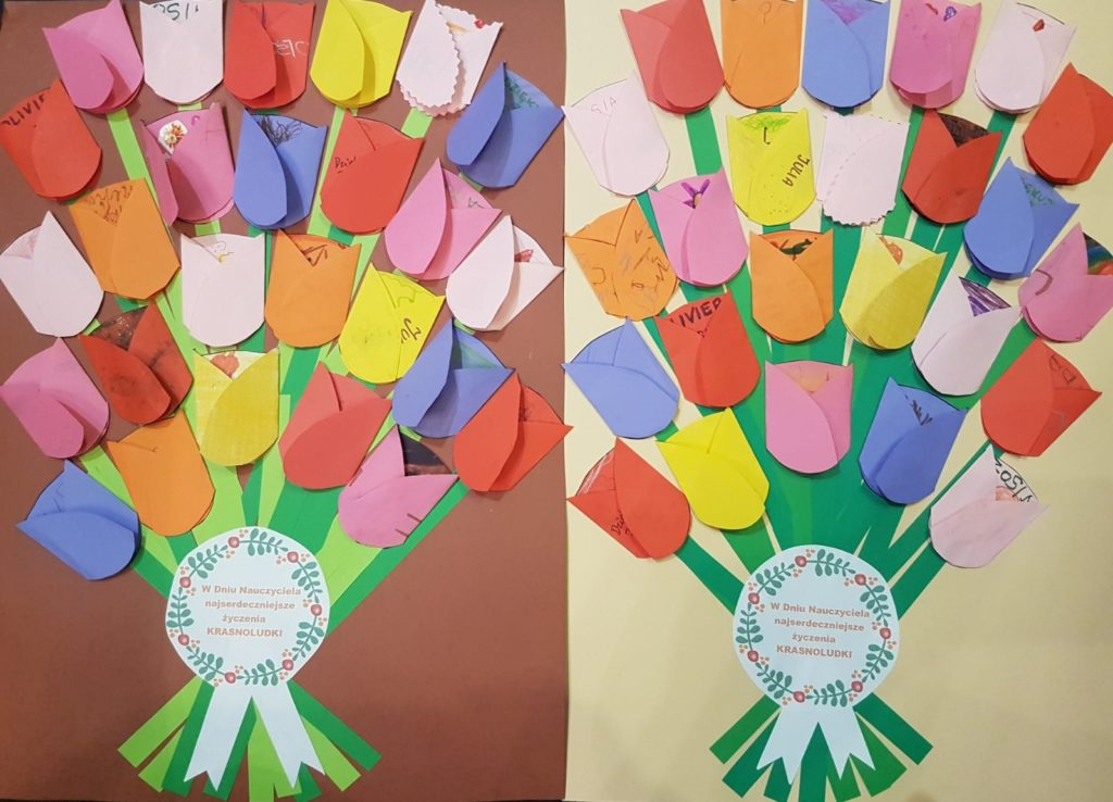 Paper tulip bouquet for the Teacher