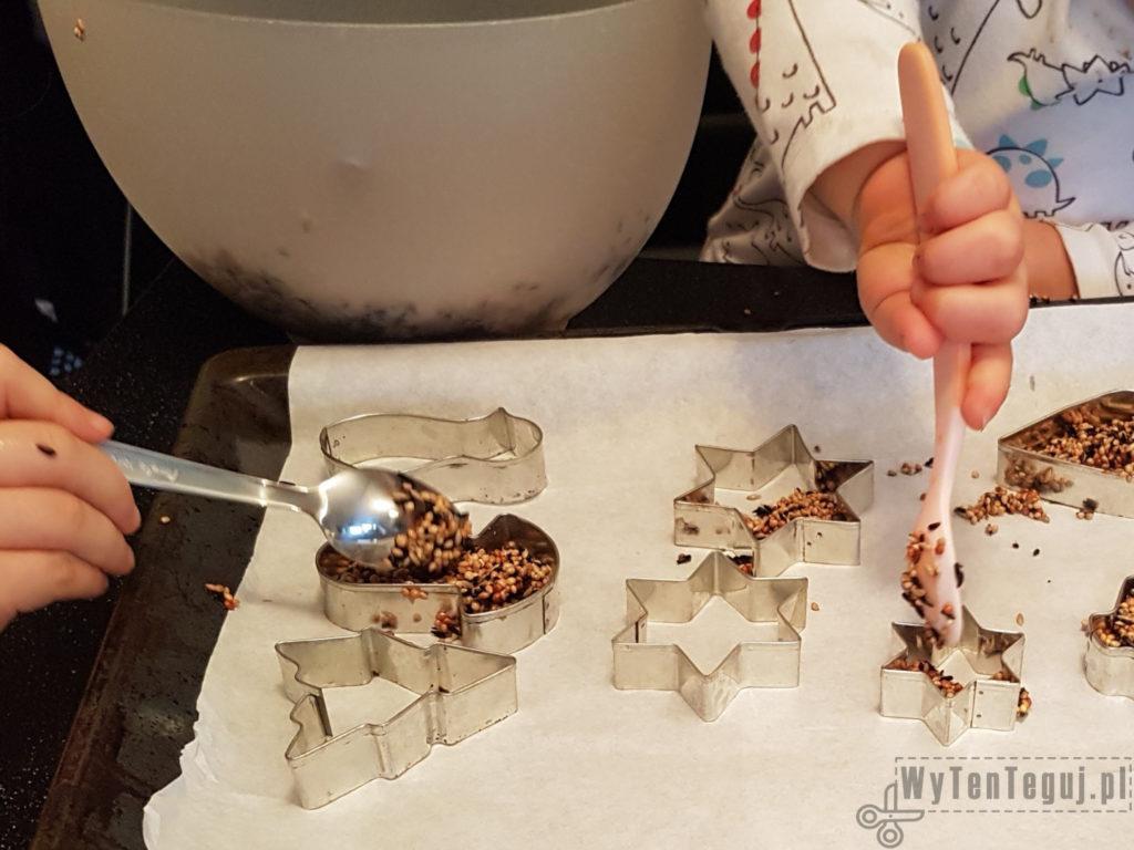 Making of bird feeder cookies