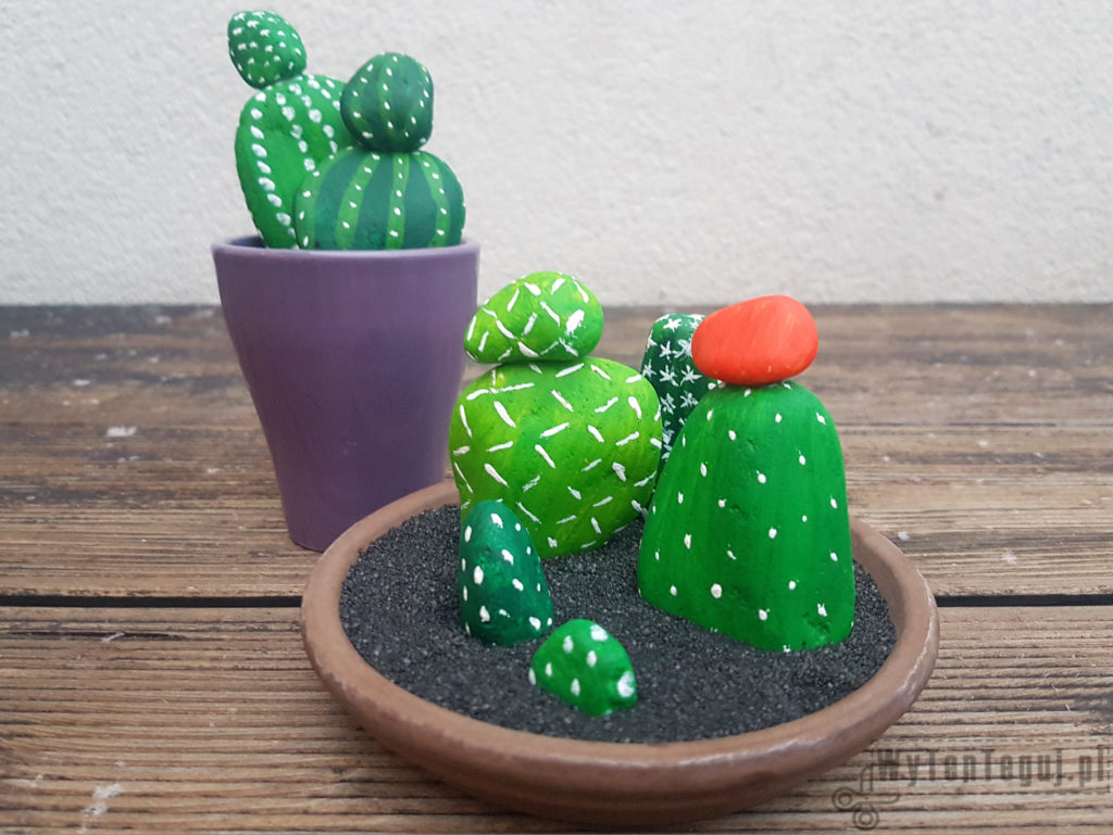 Painted rock cacti