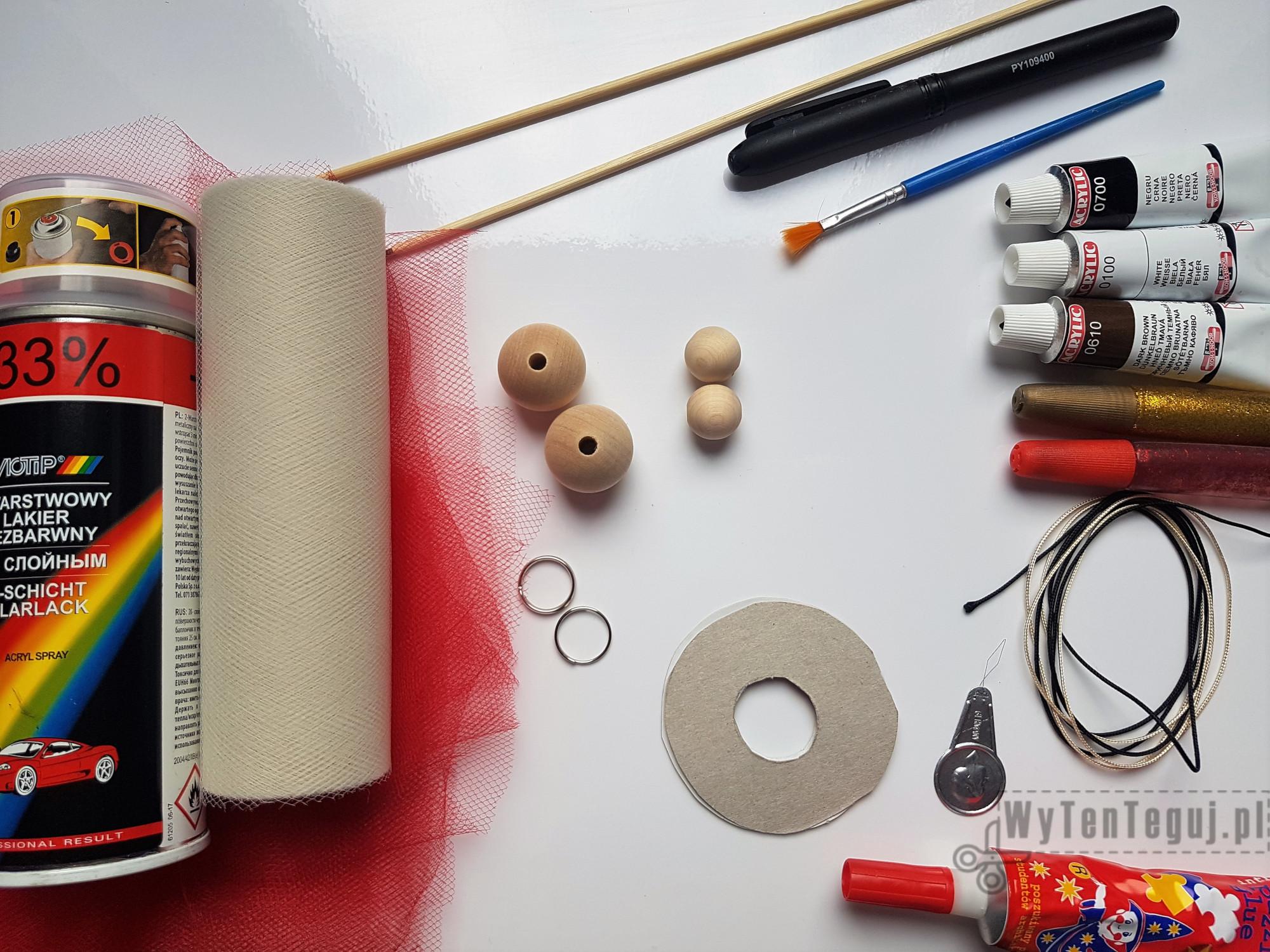 Breloczek Balerina - materiały