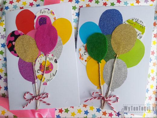 Kartki urodzinowe z balonami
