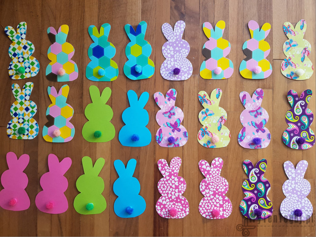 Bunnies ready for the garland