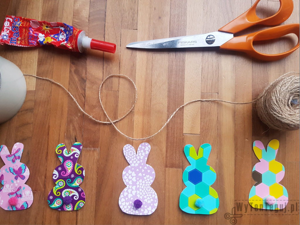 Supplies for Easter garland