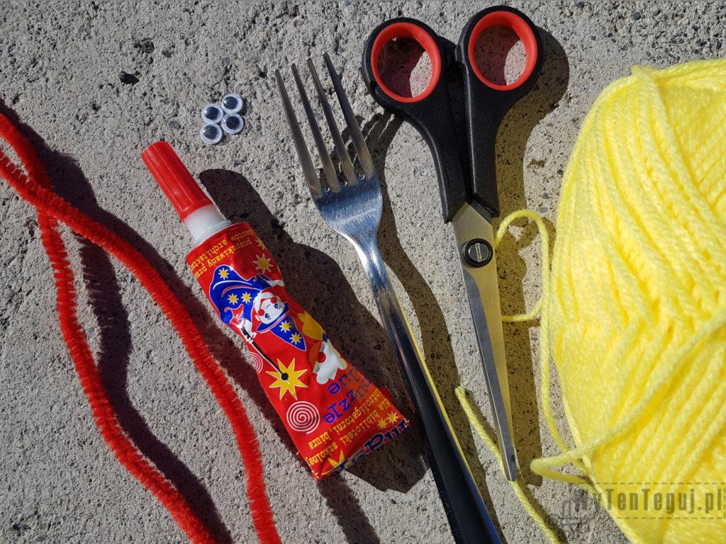 Supplies for pompom chicks