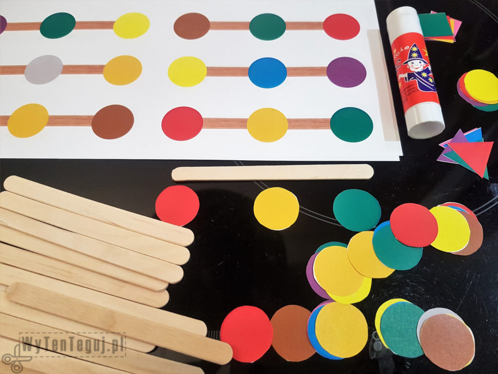 Supplies - colors and shapes matching