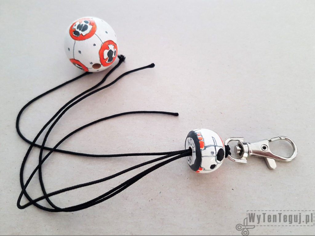 Completing BB8 droid key ring