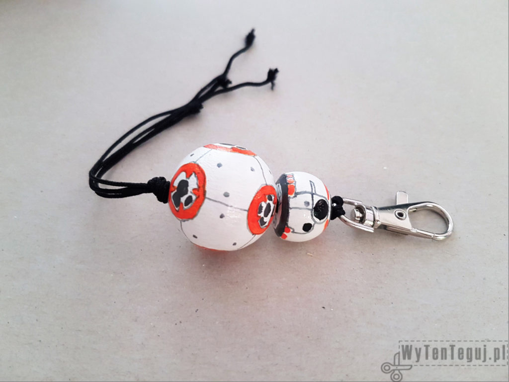 BB8 droid key ring - the last knot