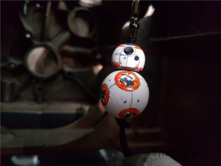 BB8 droid key ring