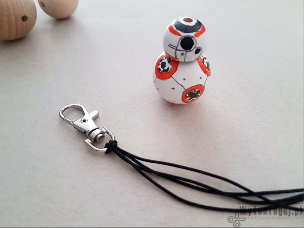 Preparation for completing BB8 droid key ring