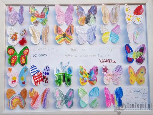 Gotowa ramka z motylkami dla nauczyciela