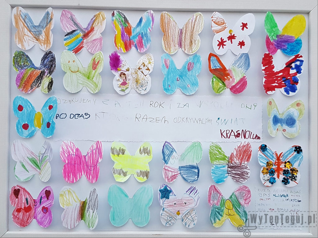 Frame with butterflies for a teacher