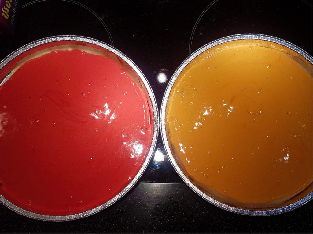 Color sponges before baking
