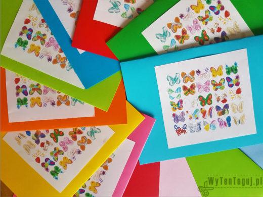Kartki z motylkami