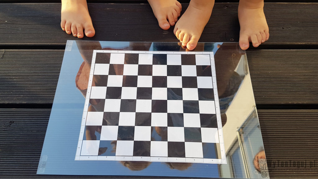 Draughts board is ready