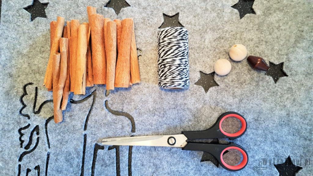 Supplies for cinnamon ornament