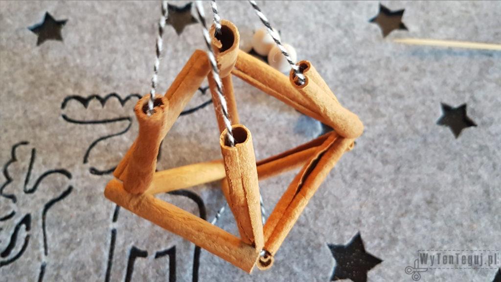 Cinnamon ornament in progress