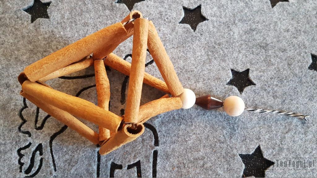 Cinnamon ornament in Scandinavian style