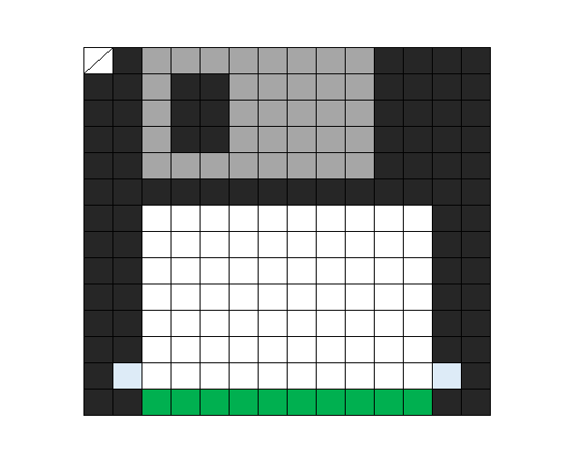 Floppy disc template for hama beads