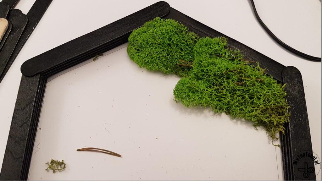 Attaching reindeer moss