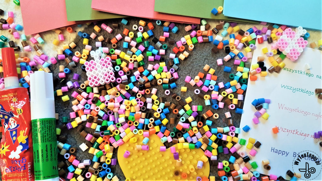 Supplies for hama beads birthday cards