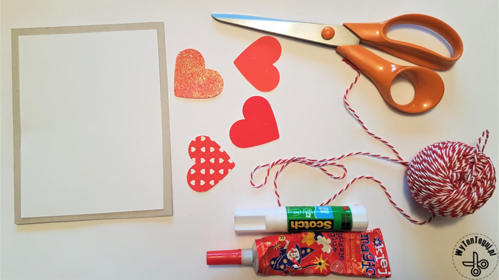 Supplies for Valentine's Day cards