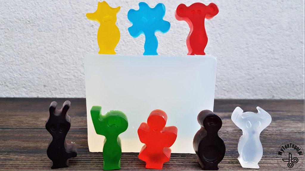 Multi colored glycerin soaps