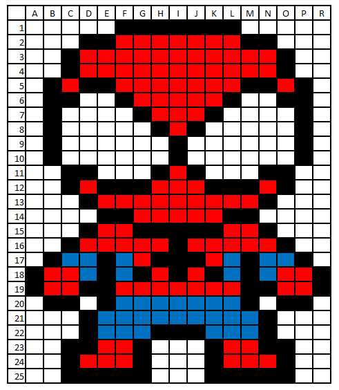 Coded images Spiderman