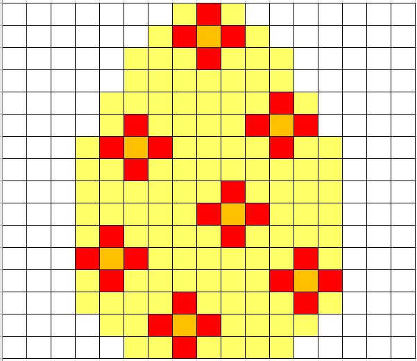 Coded easter egg with flowers