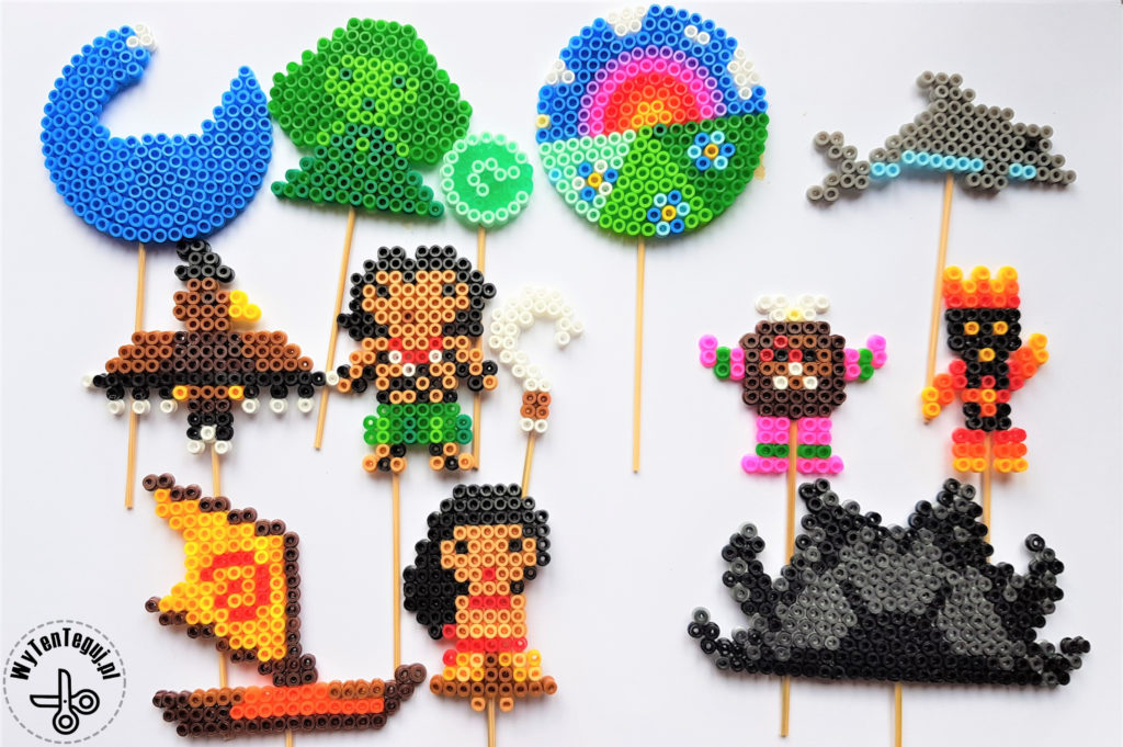 Maui and Moana legend out of perler beads
