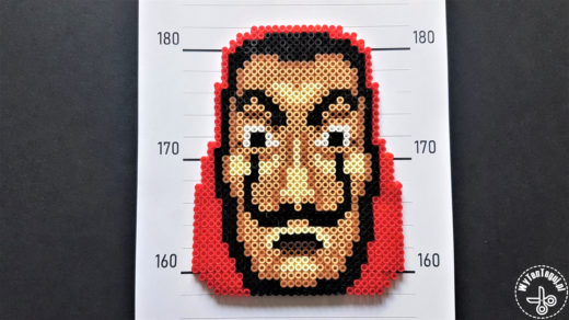 Dali mask out of perler beads