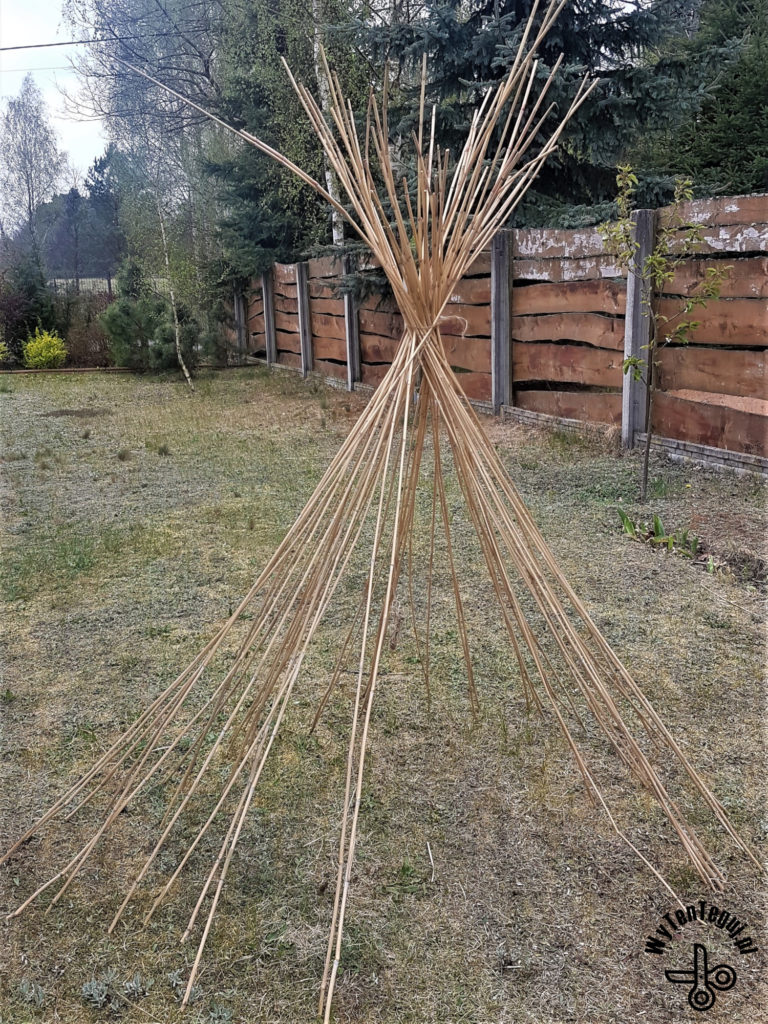 Planing the size of teepee base