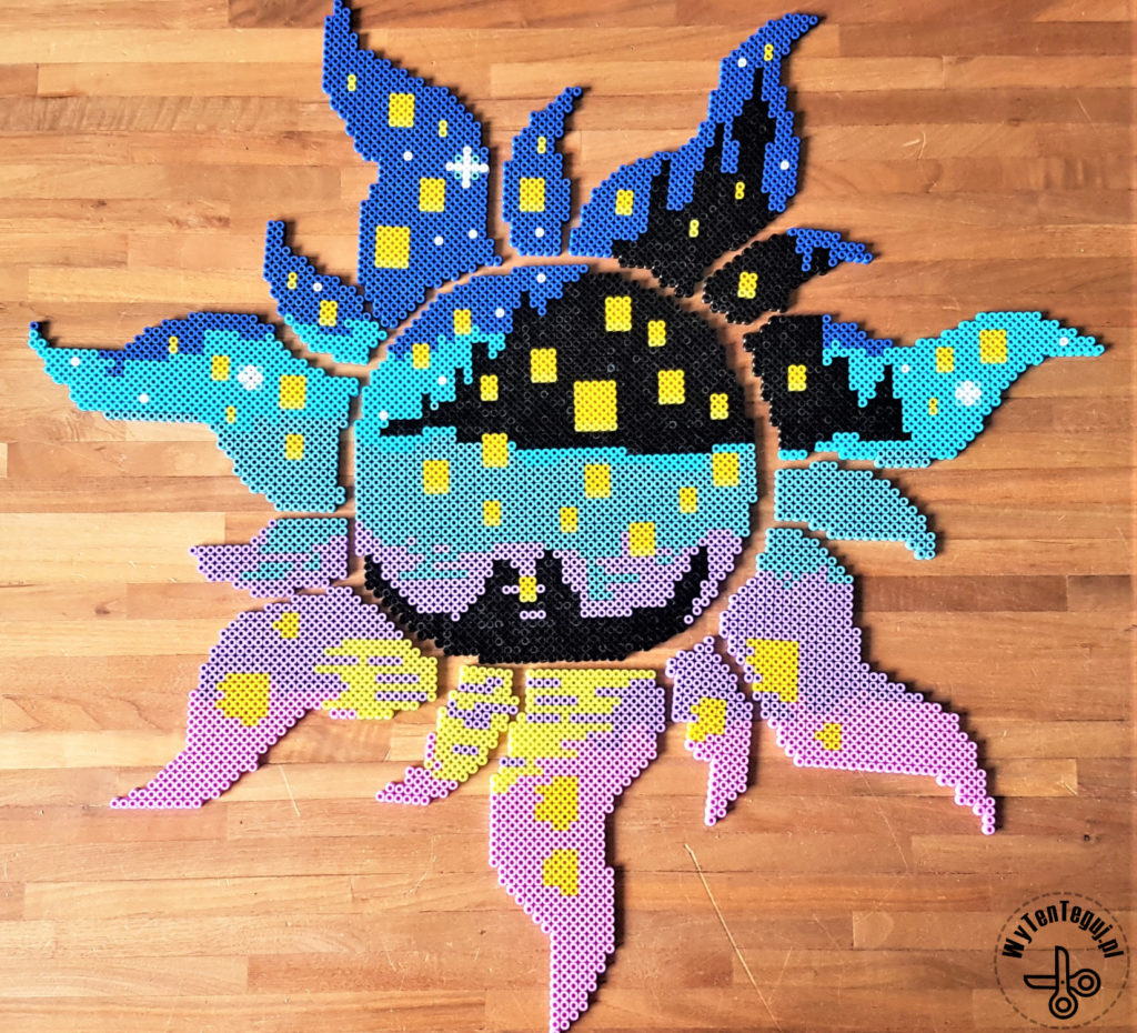 Tangled image out of perler beads