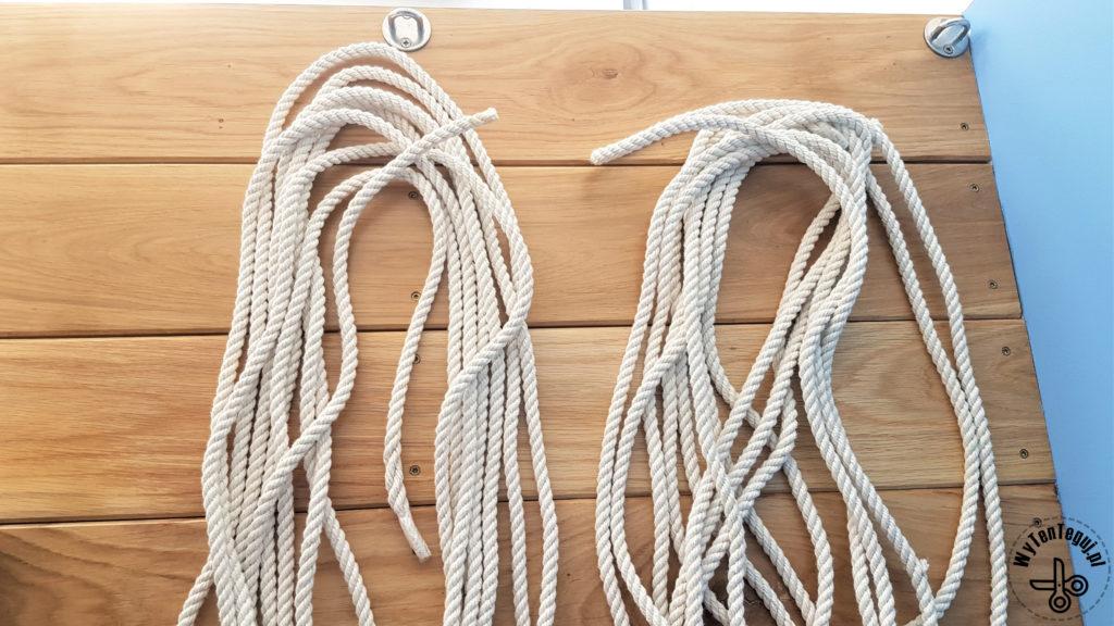 Do wykonania siatki wymagane są co najmniej 2 liny