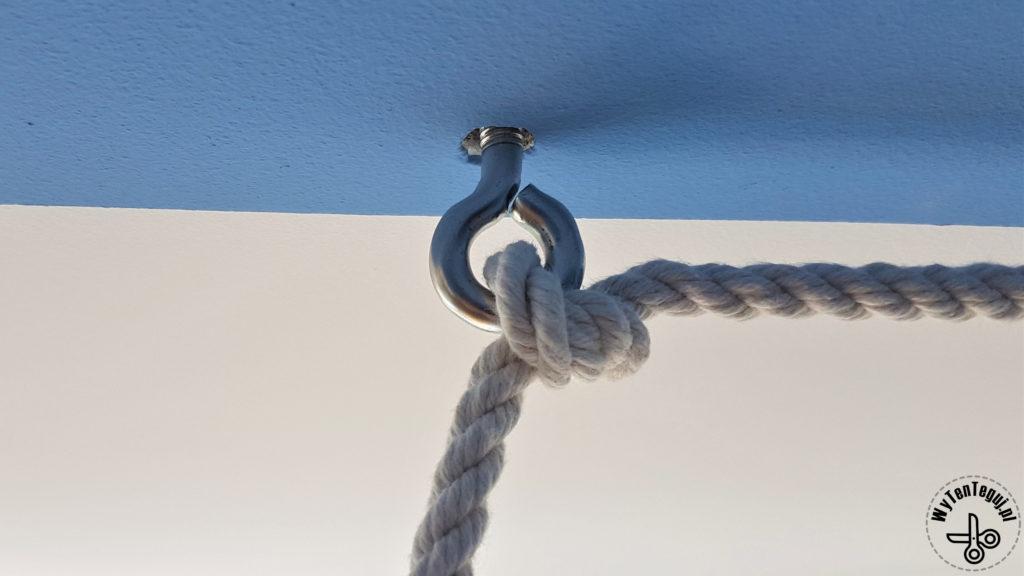 Zabezpieczenie lini na kółku