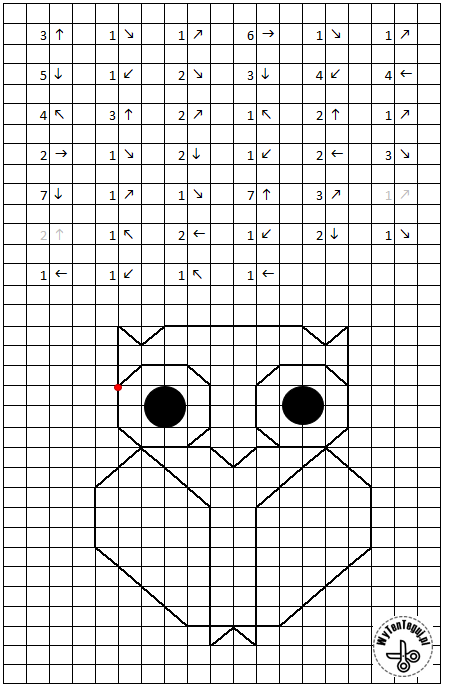 Coded image of owl