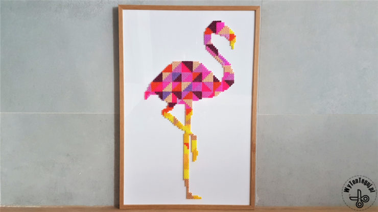 perler beads flamingo