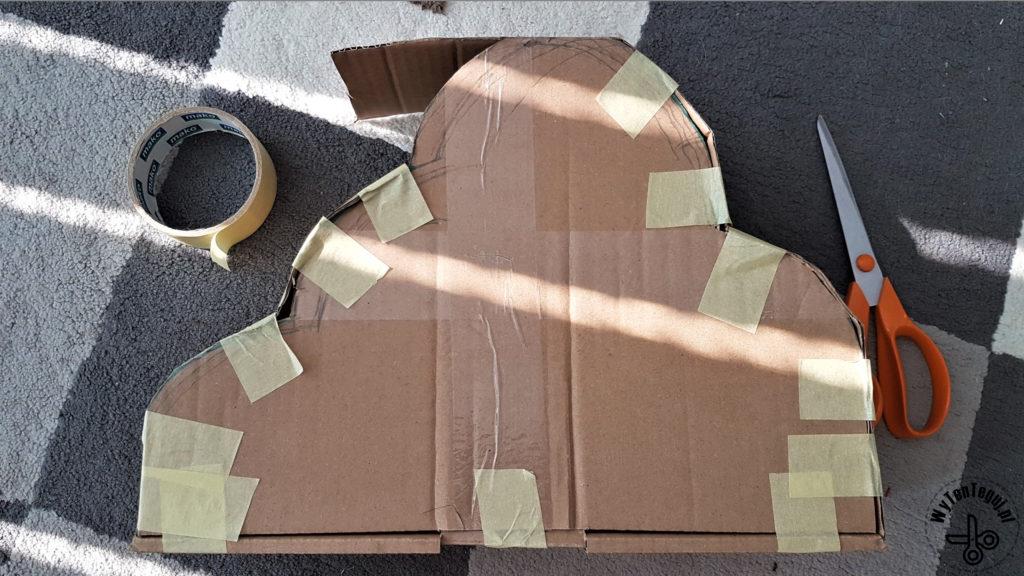 Preparation of a cloud-shaped box