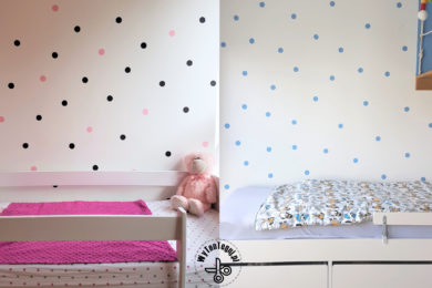 Painted polka dots wall DIY