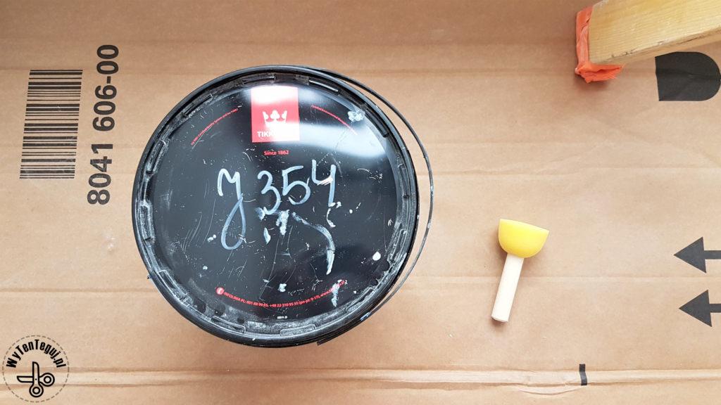 Supplies for painted polka dots wall DIY