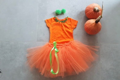 Girls Halloween costume - pumpkin tutu princess
