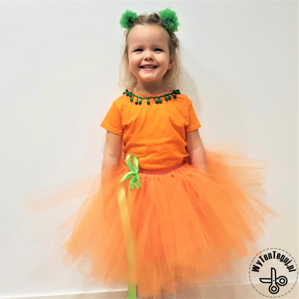 Girls Halloween costume - pumpkin tutu princess