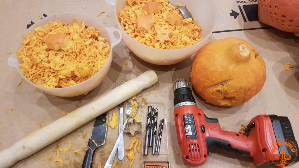 Narzędzia do przygotowania lampionów z dyni