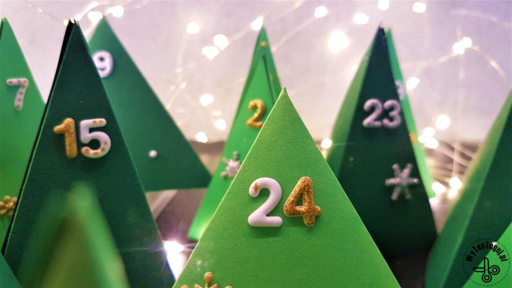 Paper Christmas tree advent calendar