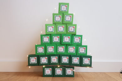 Christmas tree treasure box advent calendar