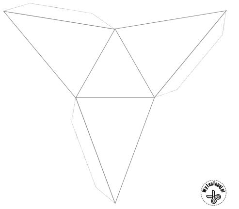 Triangular pyramid - template
