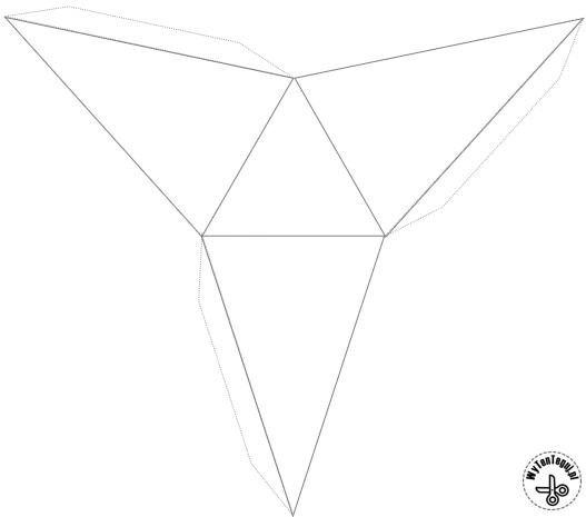 Triangular pyramid (high) - template