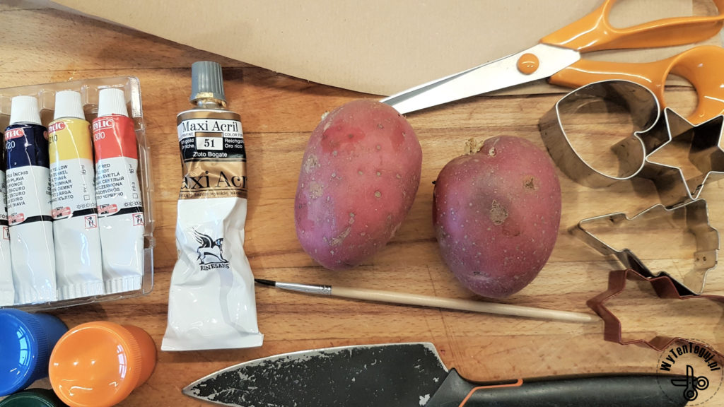 Supplies for potato stamps