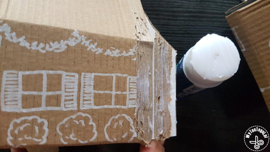 Gluing the house shape