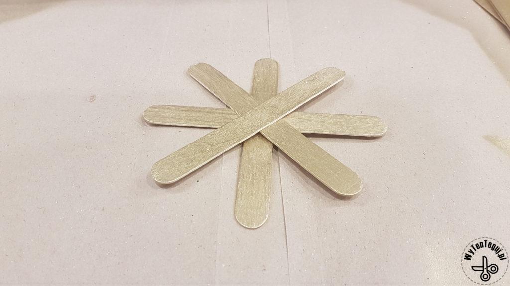 Sticking popsicle sticks star