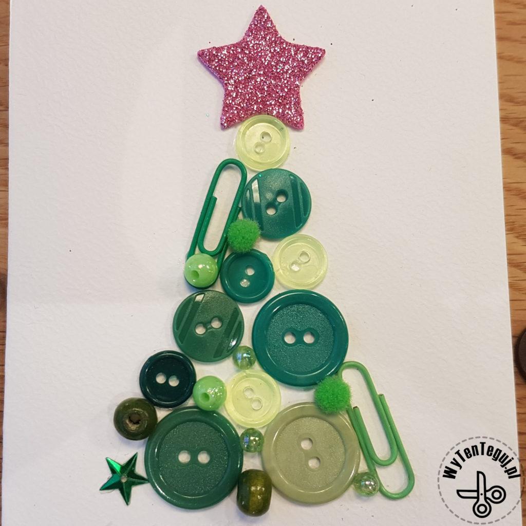 Kartki bożonarodzeniowe z guzikami